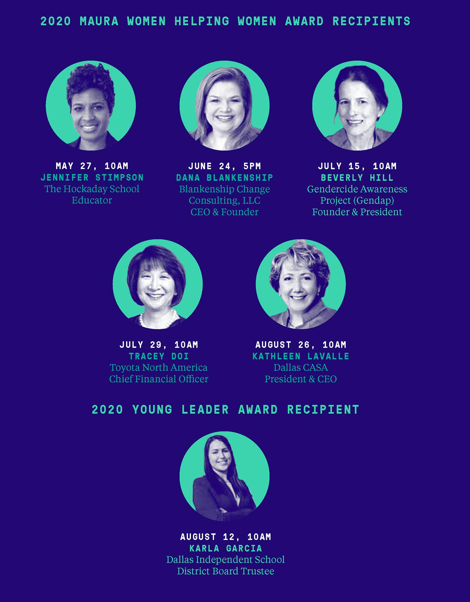 2020 Maura Women Helping Women Award Recipients